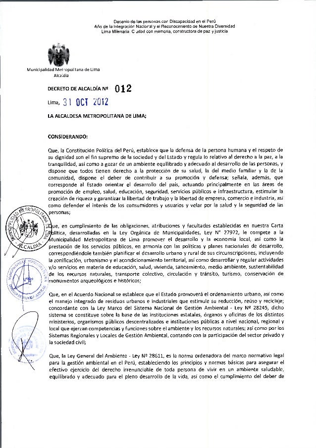 Decreto de Alcaldia 012