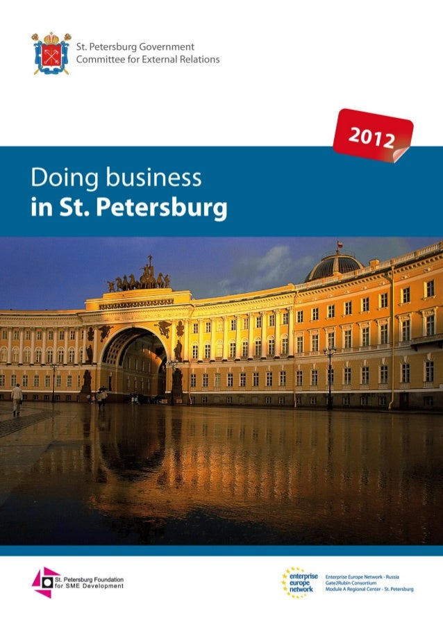Doing business in St. PetersburgSt. Petersburg Government - Committee for External Relations   1             St. Petersbur...