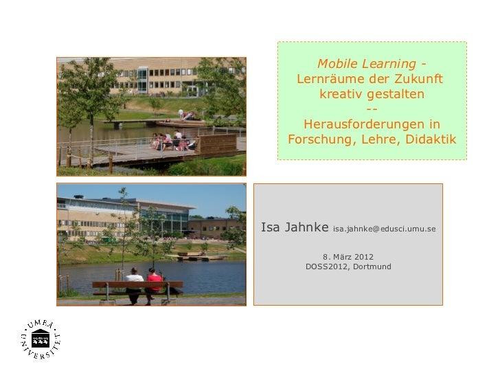 DOSS2012 MobileLearning Keynote IsaJahnke