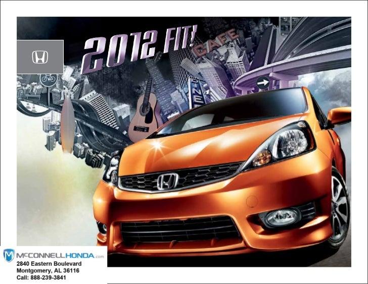 2012 Honda Fit Brochure Montgomery Alabama