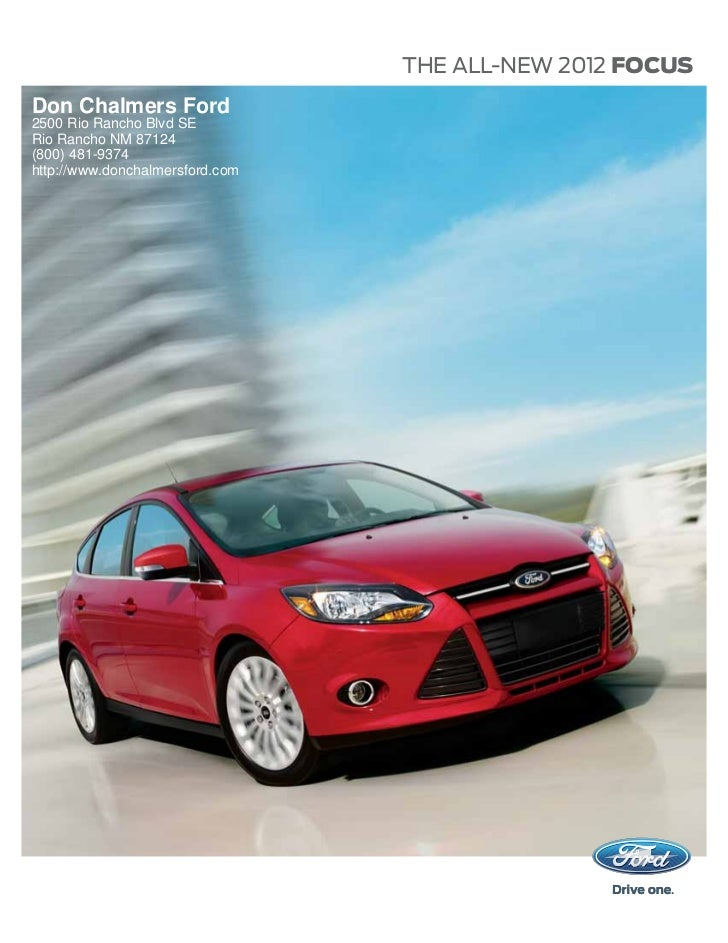 2012 Ford Focus Albuquerque NM | Don Chalmers Ford