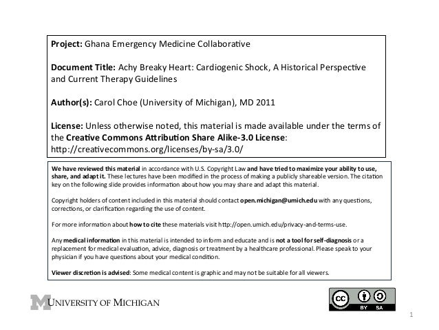 Project:  Ghana  Emergency  Medicine  Collabora4ve      Document  Title:  Achy  Breaky  Heart:  Card...