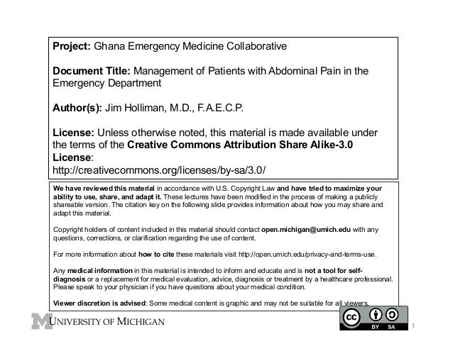 GEMC: Management of Patients with Abdominal Pain in the Emergency Department: Resident Training