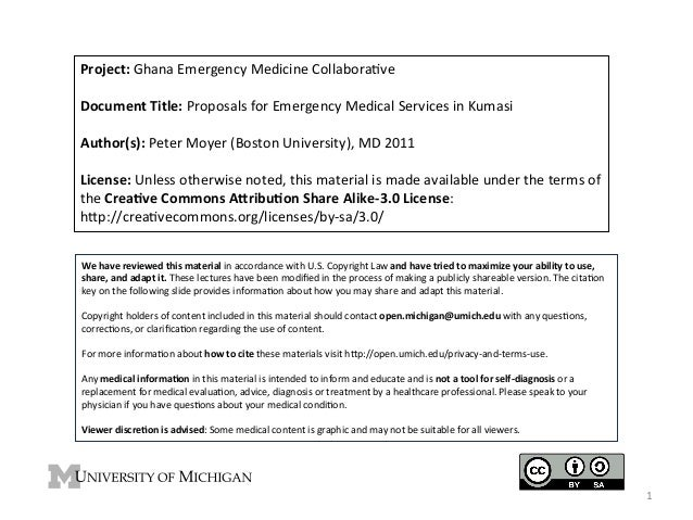 Project:	   Ghana	   Emergency	   Medicine	   Collabora4ve	    	    Document	   Title:	   Proposals	   for	   Emergency	  ...