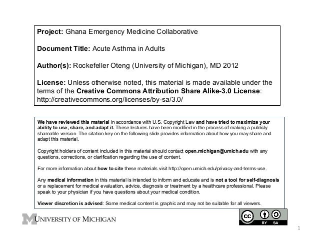 GEMC: Acute Asthma in Adults: Resident Training