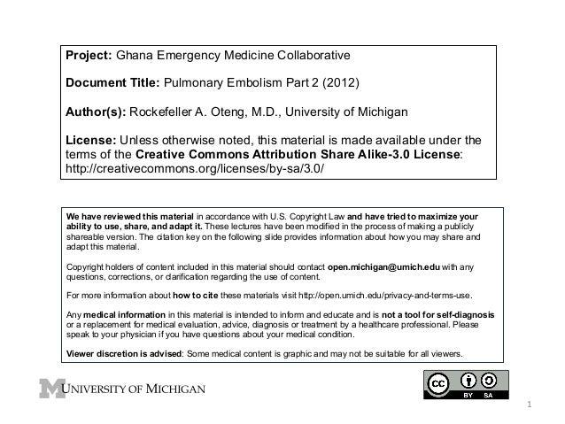 GEMC: Pulmonary Embolism Part 2: Resident Training