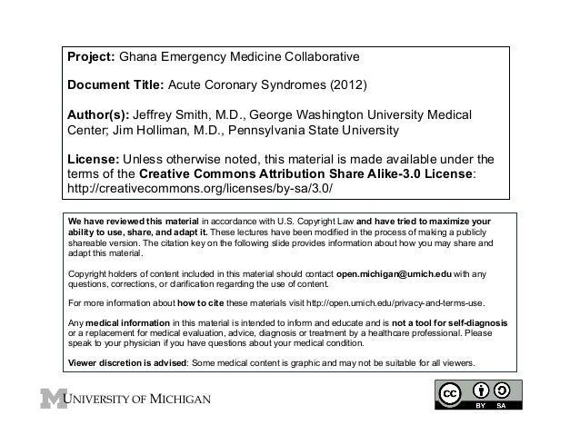 GEMC: Acute Coronary Syndromes: Resident Training