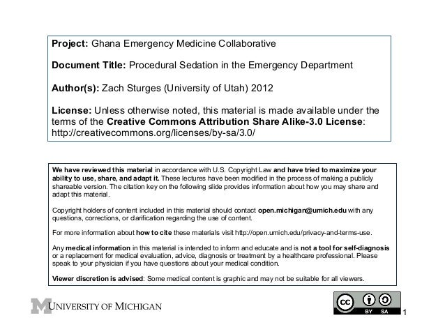 GEMC: Procedural Sedation in the Emergency Department: Resident Training