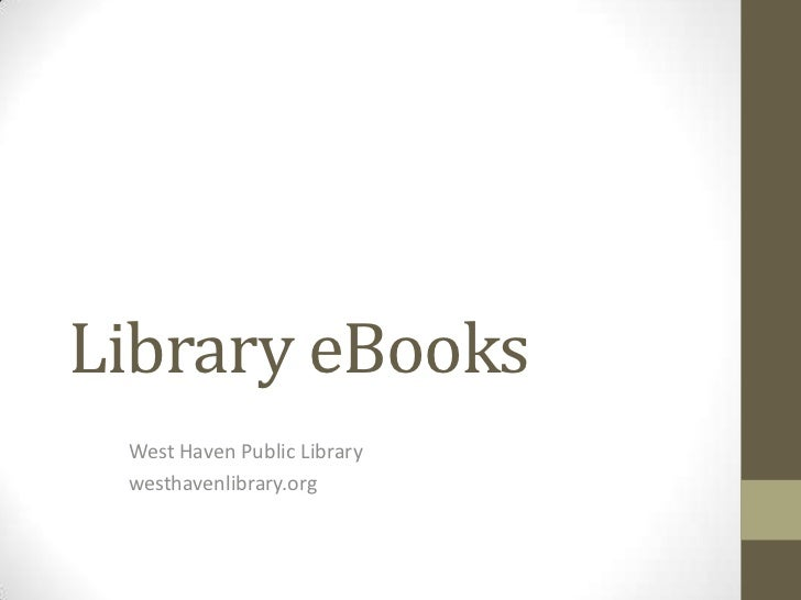 Library eBooks and eReaders WHPL