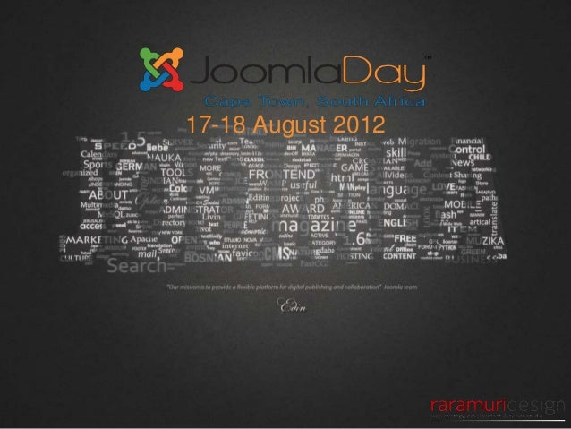 Welcome to JoomlaDay Cape Town 2012