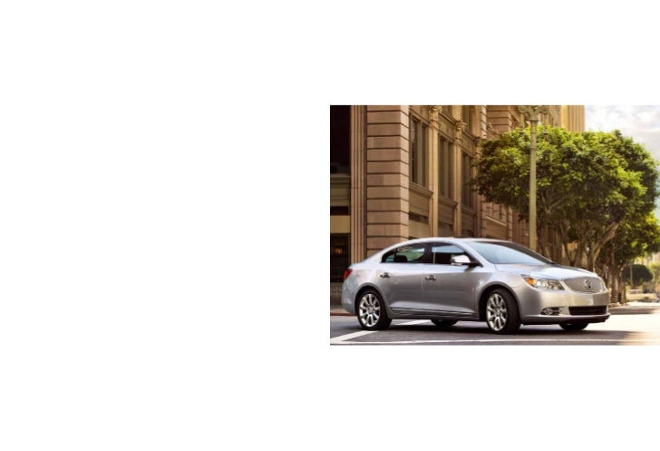 2012 Buick LaCrosse with E-assist Brochure