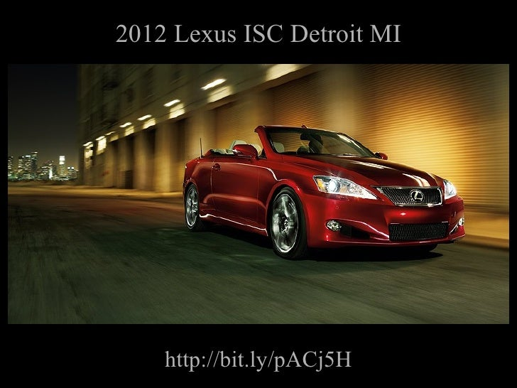2012 Lexus ISC Detroit MI http://bit.ly/pACj5H