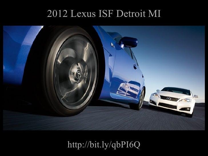 2012 Lexus ISF Detroit Michigan