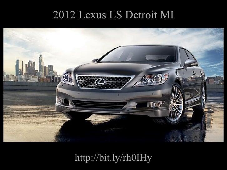 2012 Lexus LS Detroit MI http://bit.ly/rh0IHy