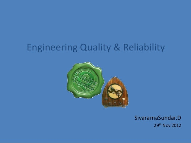 Quality & Reliability in Software Engineering