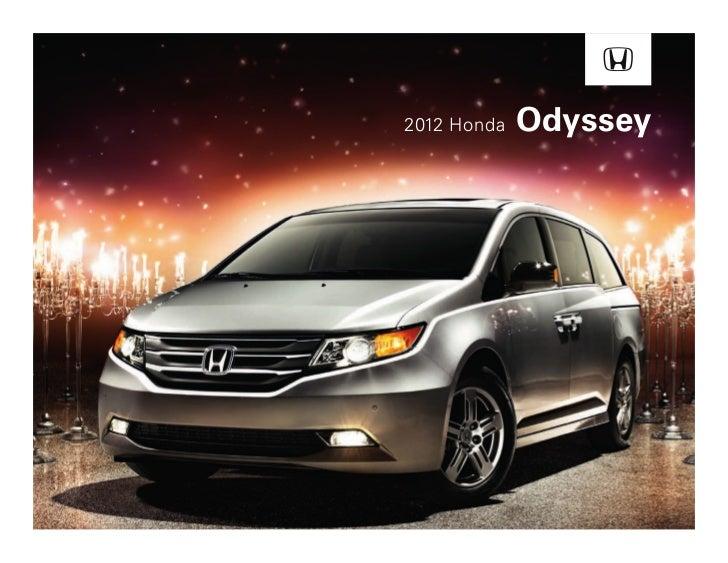 2012 Honda Odyssey Brochure in Tampa Florida Dealer