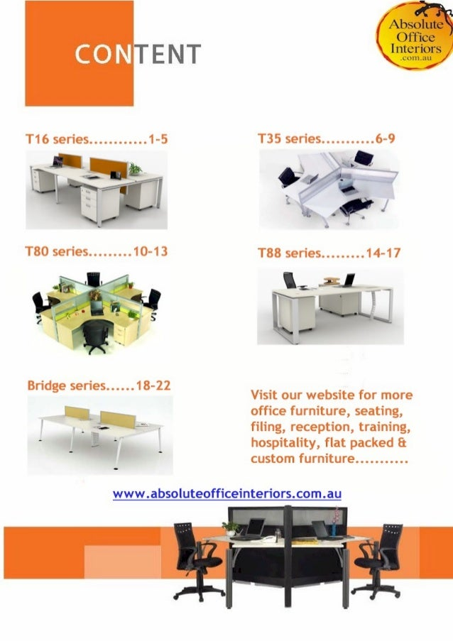 Absolute Office Interior Product Catalogue