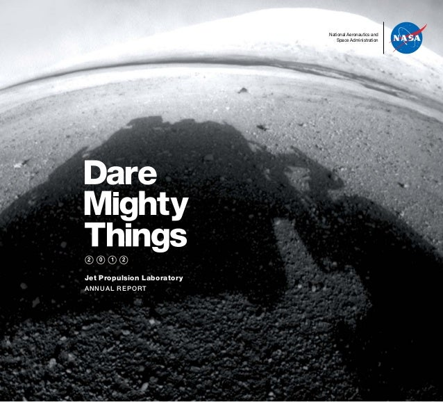 Jet Propulsion Laboratory ANNUAL REPORT National Aeronautics and Space Administration 2 0 1 2