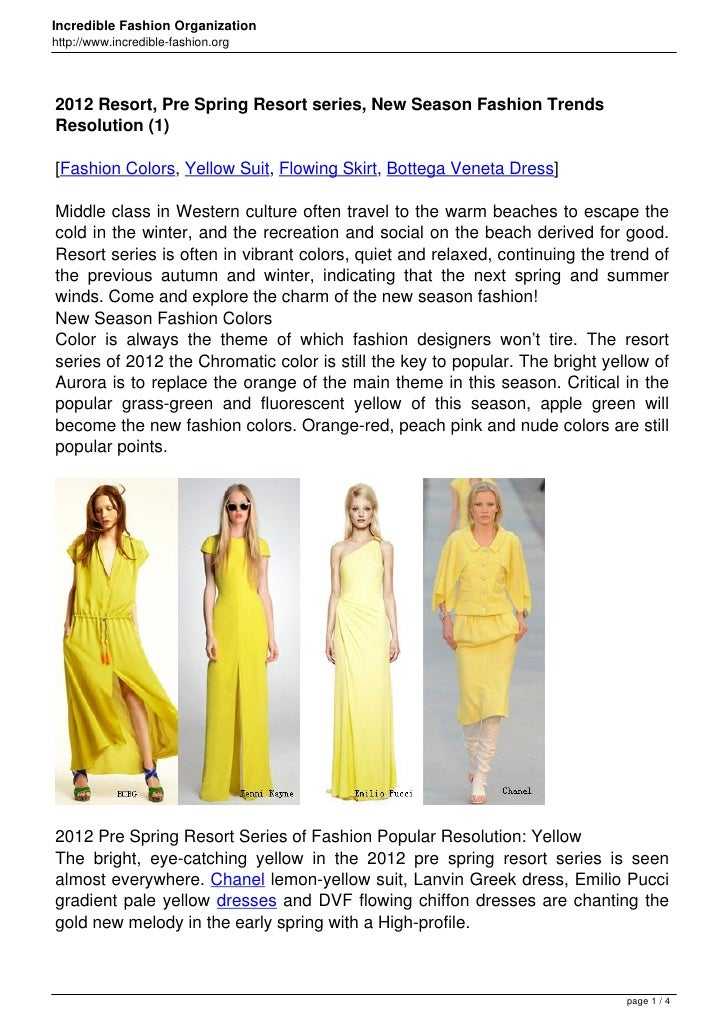 Incredible Fashion Organizationhttp://www.incredible-fashion.org2012 Resort, Pre Spring Resort series, New Season Fashion ...