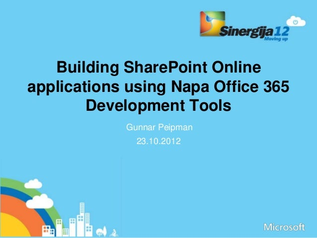 Building Sharepoint Online Applications Using Napa Office