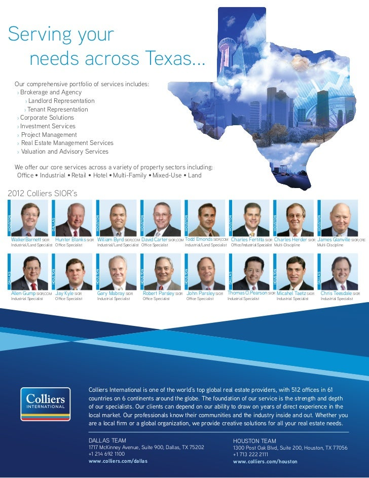 2012 Colliers Texas SIOR Brokers