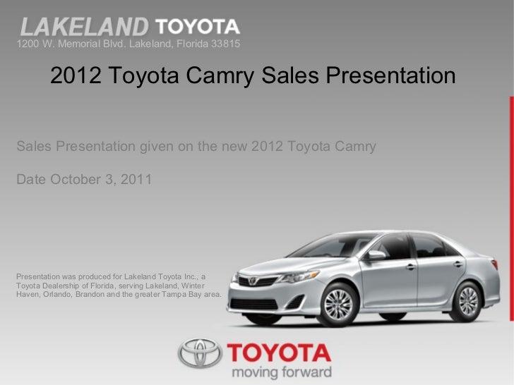 2012 Toyota Camry at Lakeland Toyota