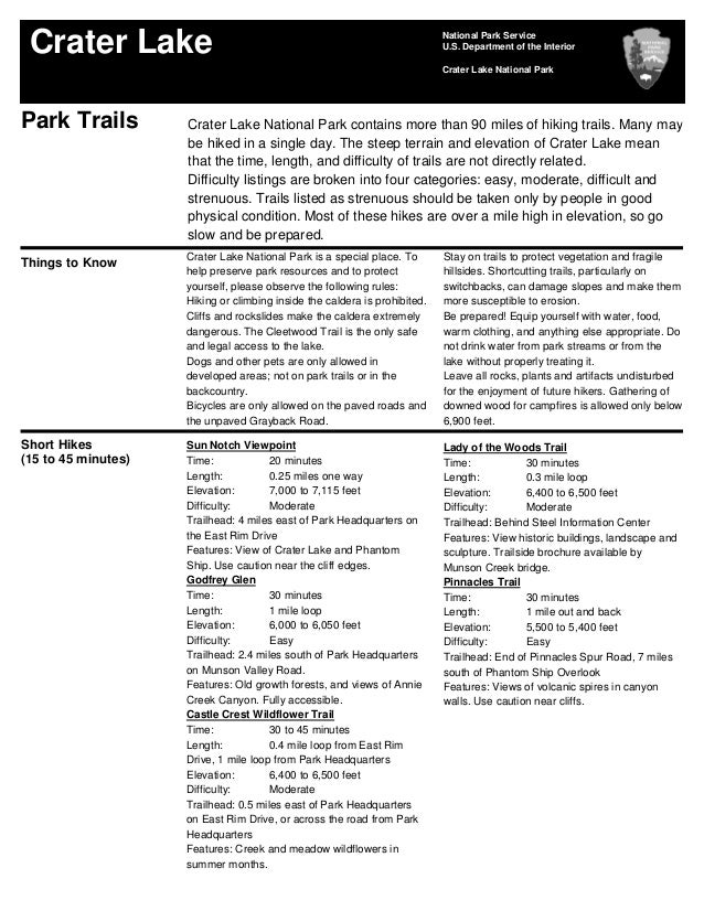 NostalgicOutdoors™- Crater Lake- Park Trails