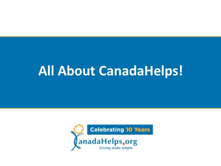 What is CanadaHelps?