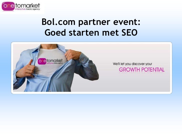 Bol.com Partner event: Goed starten met SEO (beginners sessie)