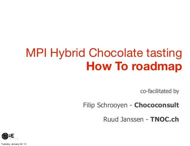 MPI Hybrid Chocolate tasting                                How To roadmap                                                ...