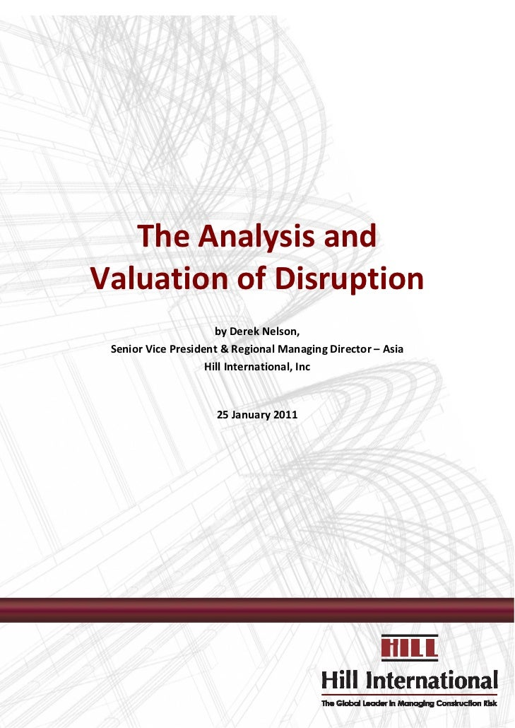 The Analysis and Valuation of Disruption