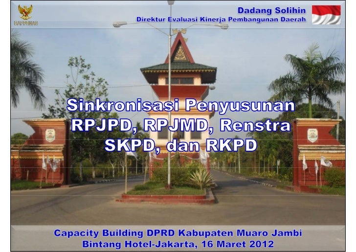 Sinkronisasi Penyusunan RPJPD, RPJMD, Renstra SKPD, dan RKPD