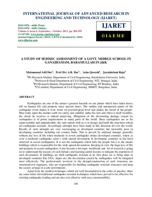 International Journal of Advanced Research in Engineering and Technology (IJARET), ISSN IN – INTERNATIONAL JOURNAL OF ADVA...