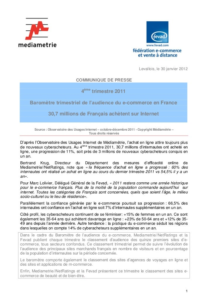 Levallois, le 30 janvier 2012                                   COMMUNIQUE DE PRESSE                                      ...
