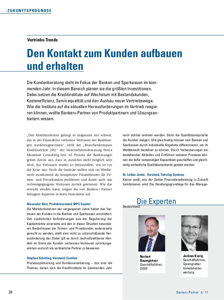 ZuK u n f T sprognose         Vertriebs-Trends         Den Kontakt zum Kunden aufbauen         und erhalten         Die Ku...