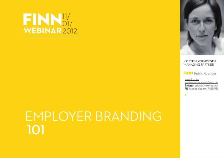 Webinar: Employer branding - 11.01.2012