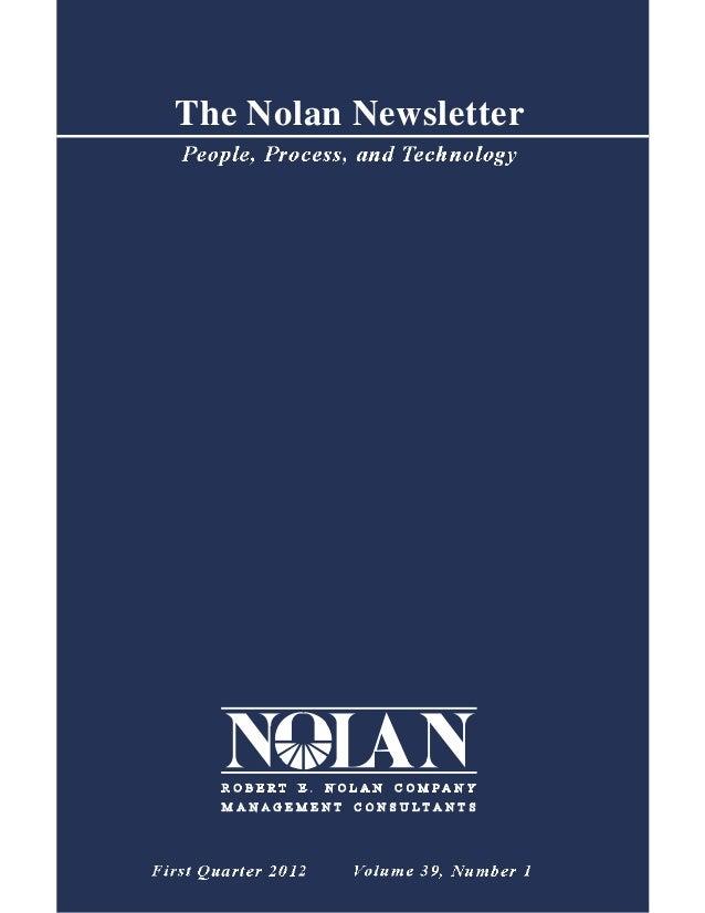 The Nolan Newsletter