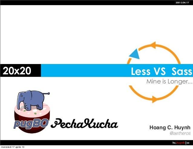 PechaKucha Less VS Sass