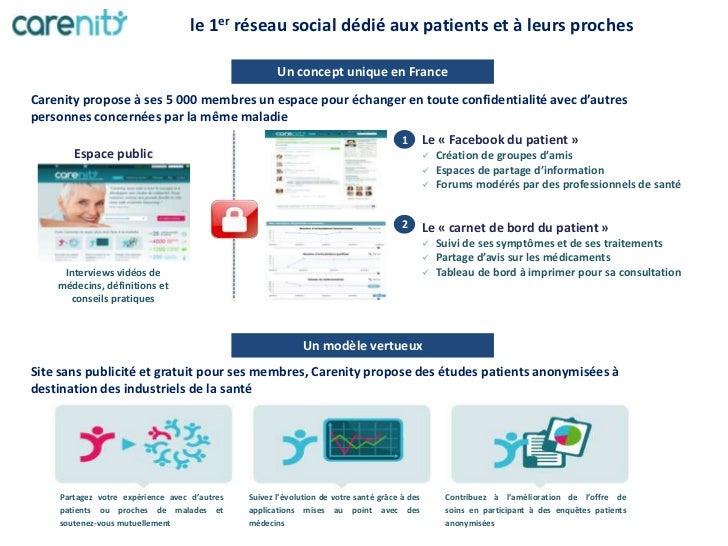 le 1er réseau social dédié aux patients et à leurs proches                                                     Un concept ...