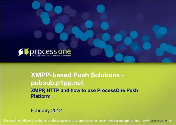ProcessOne Push Platform: pubsub.p1pp.net