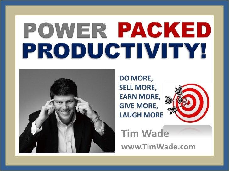 Tim Wadewww.TimWade.com