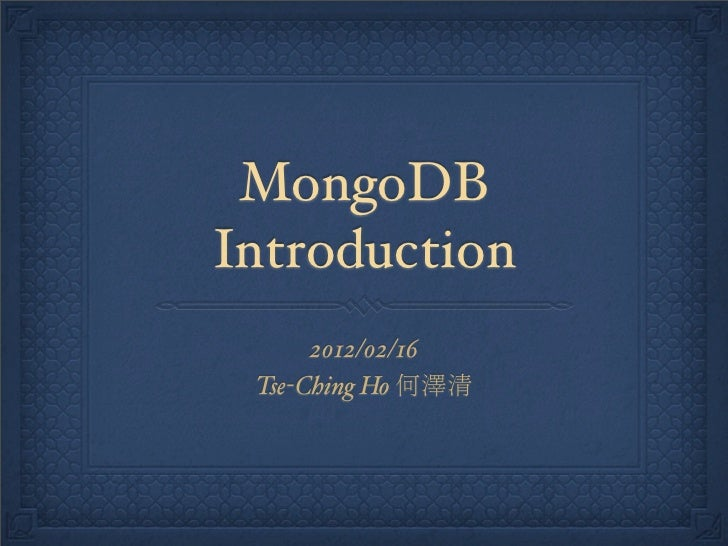 mongodb-introduction