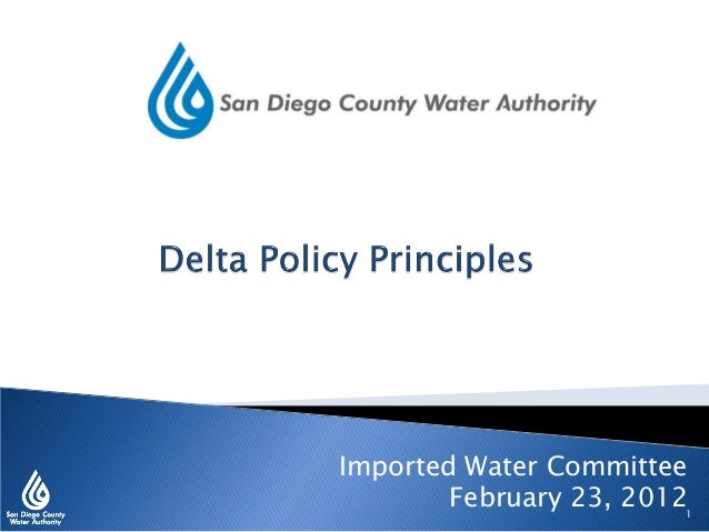 Imported Water Committee February 23, 20121