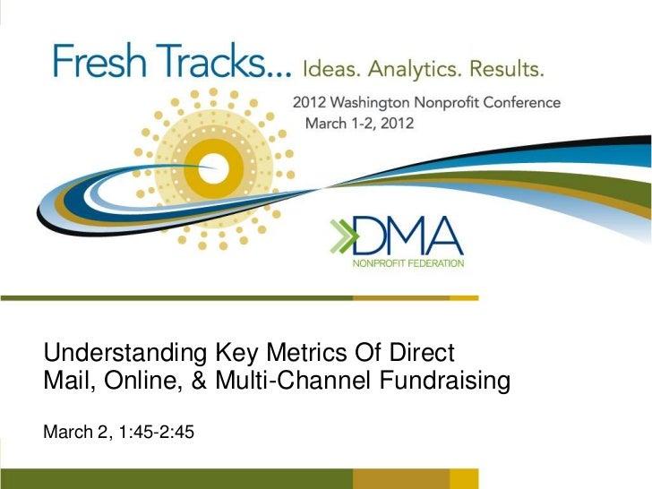 Understanding Key Metrics Of DirectMail, Online, & Multi-Channel FundraisingMarch 2, 1:45-2:45