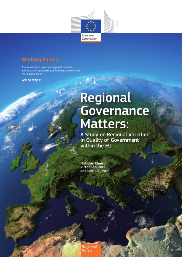 A Study on Regional Variation in Quality of Government within the EU
