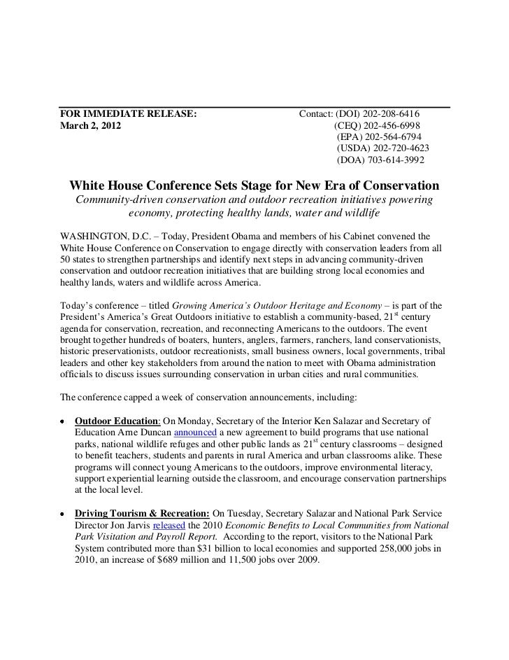 White House Holds Conclave on Communities and Conservation