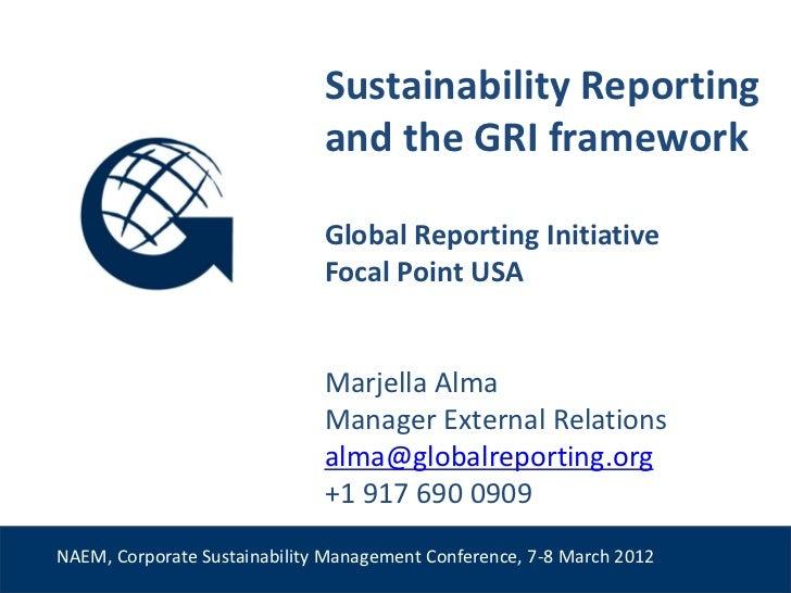 GRI presentation @ NAEM Conference