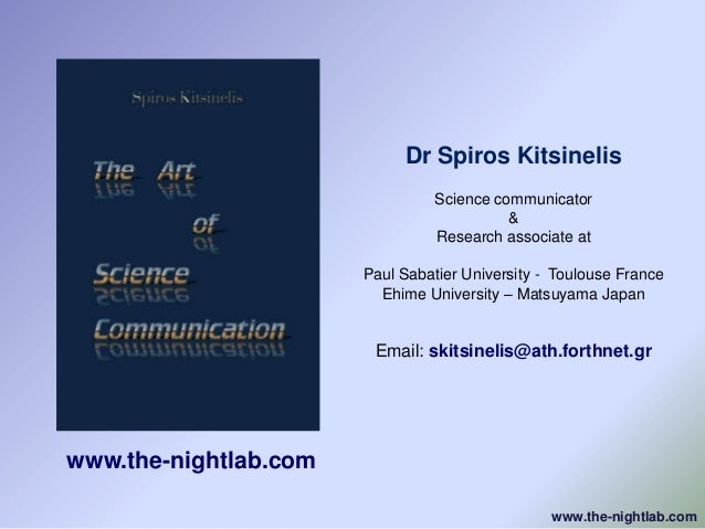 Dr Spiros Kitsinelis                                Science communicator                                          &       ...
