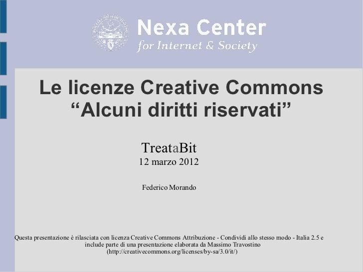 Creative Commons - Alcuni diritti riservati