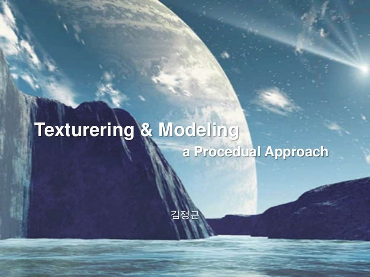 Texture Modeling a Procedual Approach #01